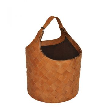 Kamelo basket leather kettle natural