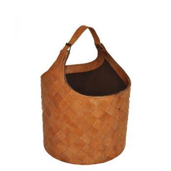 Kamelo basket leather kettle natural